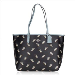 Coach Party Owls Reversible Tote Bag
